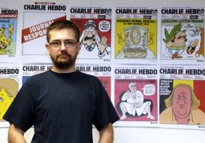 """El director del periódico satírico francés """"Charlie Hebdo"""", Charb."""