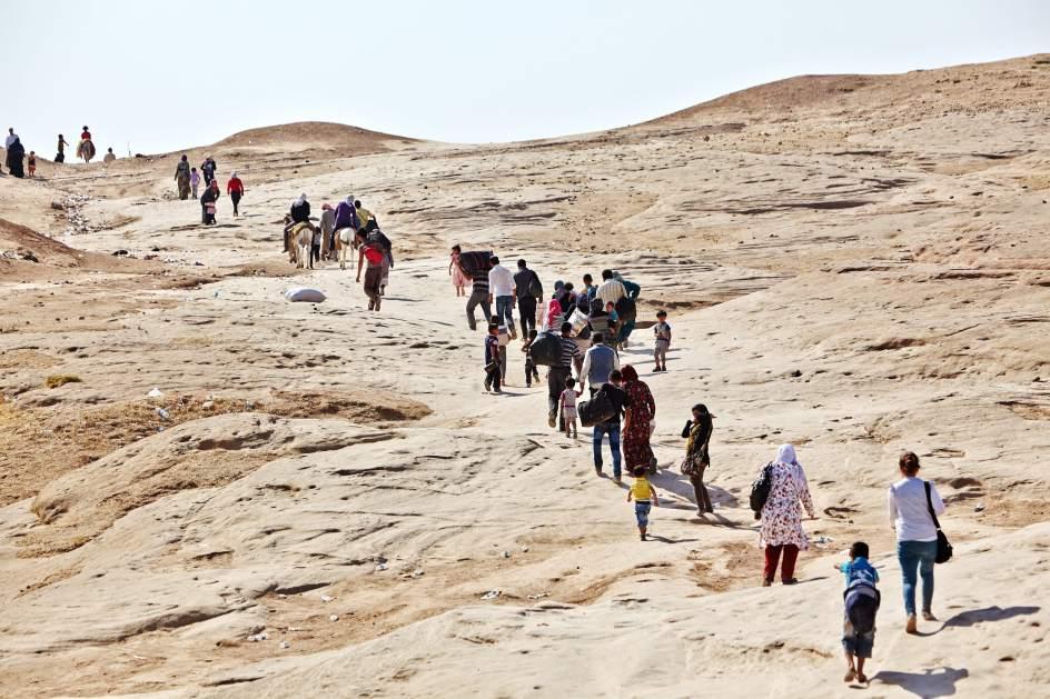 Exodo de refugiados en Siria