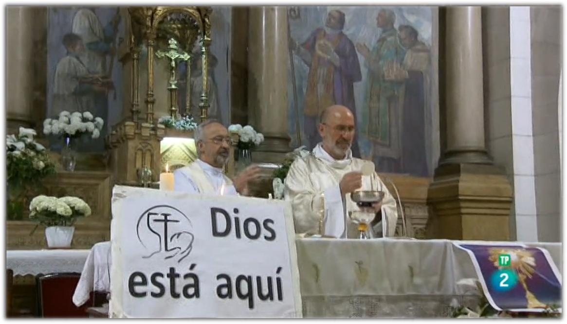 Jose Luis Pinilla en la misión católica de Paris.