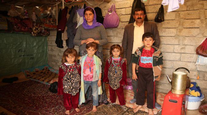 Refugiados en Irak.
