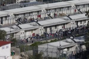 campo de Moria en Lesbos