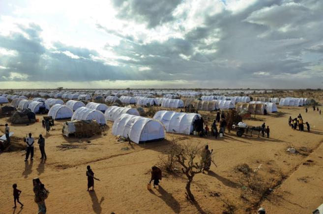 Campo de refugiados de Dadaab, en la frontera entre Kenia y Somalia.