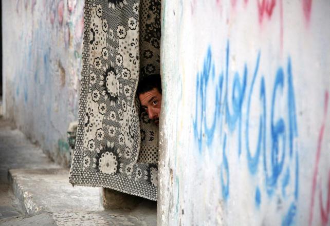Campo de refugiados palestinos en Cisjordania.