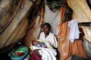 Madre e hijo en la República Democrática del Congo.