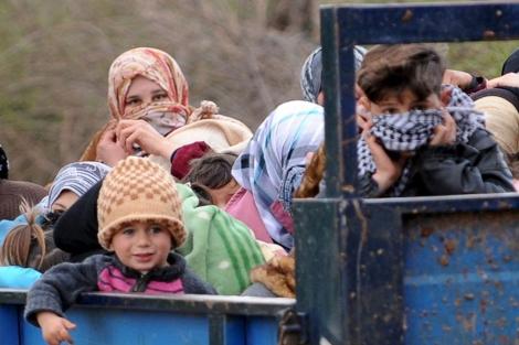 Niños refugiados en Siria