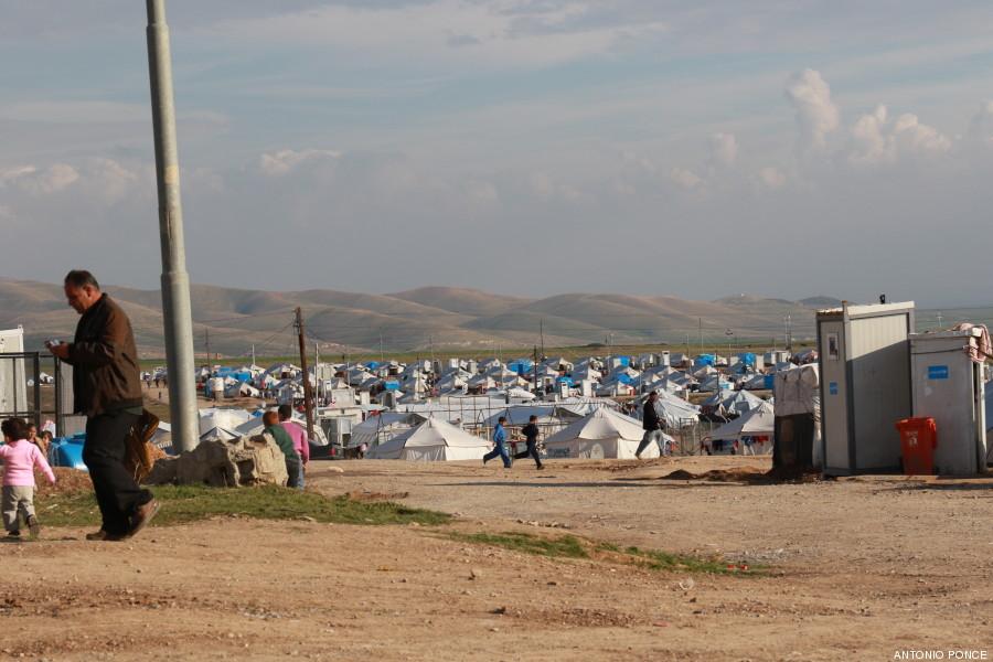 El campo de refugiados de Arbat.
