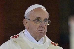 El Papa Francisco triste