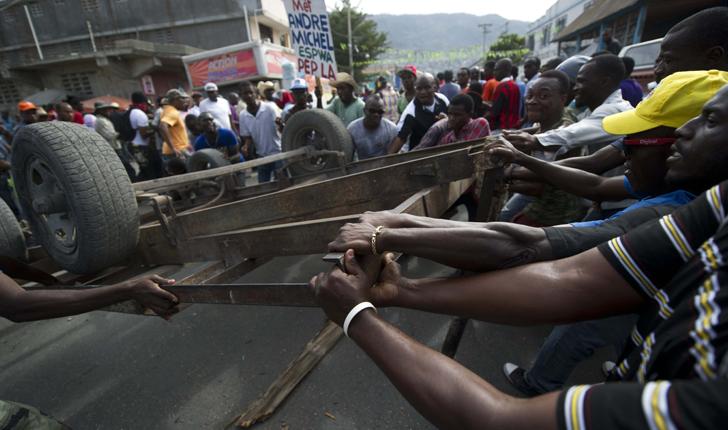 Protestas en Port au Prince en la conmemoración de los 5 años del terremoto de Ahiti / Foto: AFP