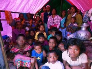 Campamento de refugiados Serfanguri, en Kokrajar (India). Priyanka Borpujari/IPS